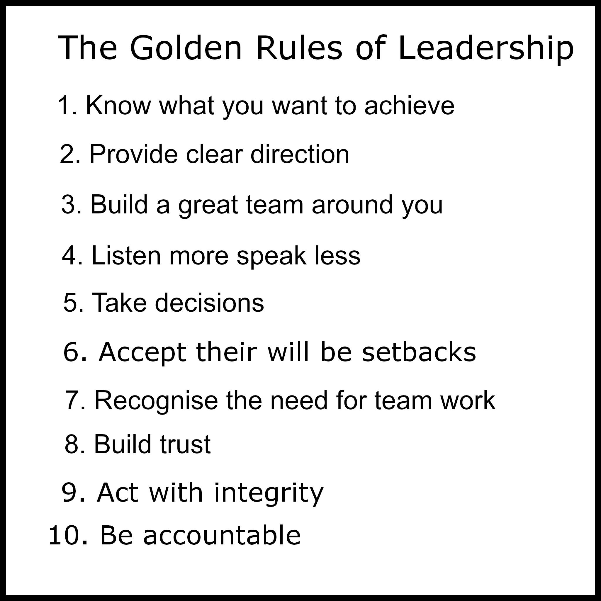 How To Succeed: The 5 Golden Rules You Need To Know